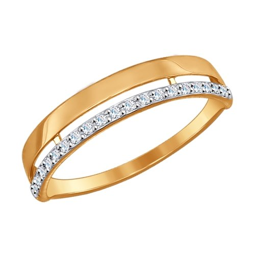 SOKOLOV Ring Gold With Cubic Zirconia