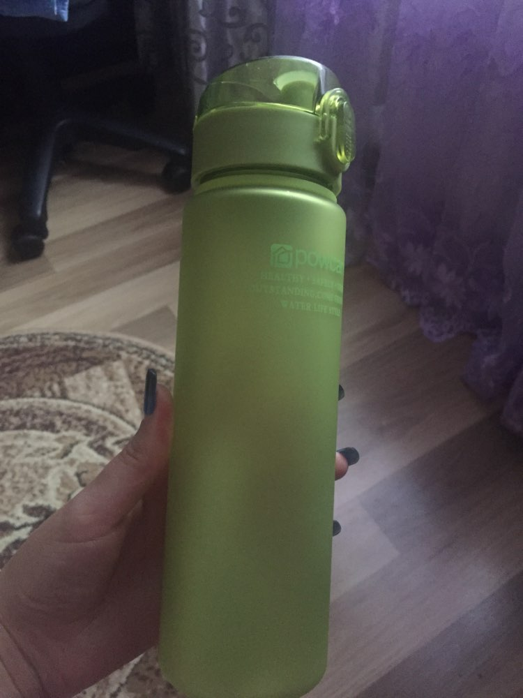 501 600ml Bottle for Water Outdoor Water Bottle Sports Water Bottle Eco friendly with Lid Hiking Camping Plastic My Bottle.j-in Water Bottles from Home & Garden on AliExpress