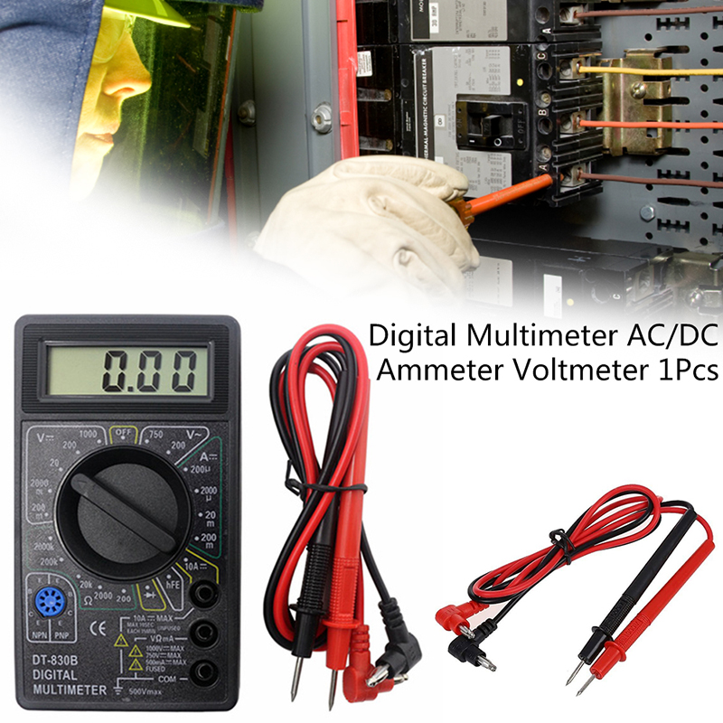 750/1000V Voltmeter Ammeter Ohm Tester High Safety Handheld Meter Digital Multimeter DT830B AC/DC LCD Digital Multimeter