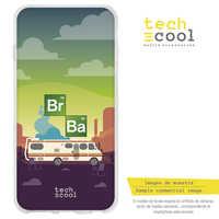 FunnyTech®Etui sur pied pour BQ Aquaris E5 4g Silicone/E5S L Series Breaking Bad caravane fund