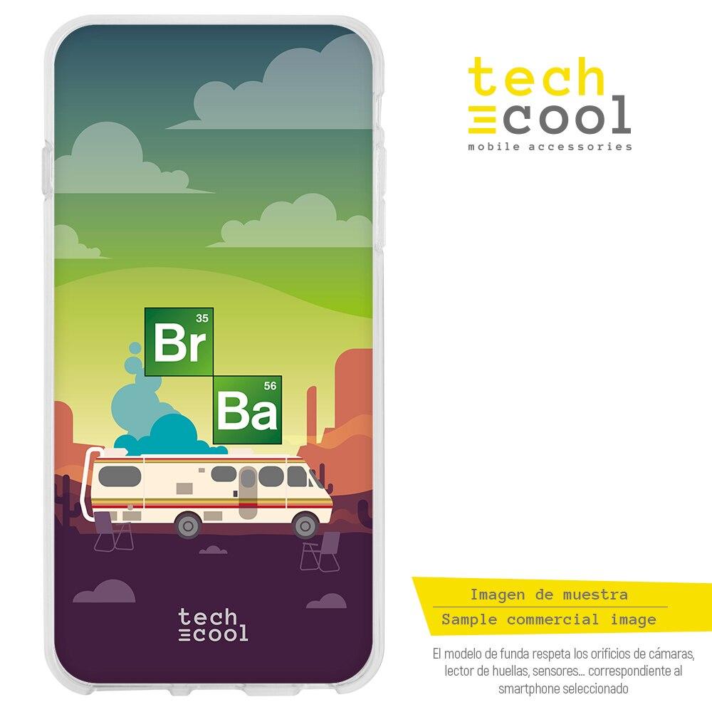 FunnyTech® Funda Silicona para Iphone 4 / 4S Serie Breaking Bad Caravana fondo