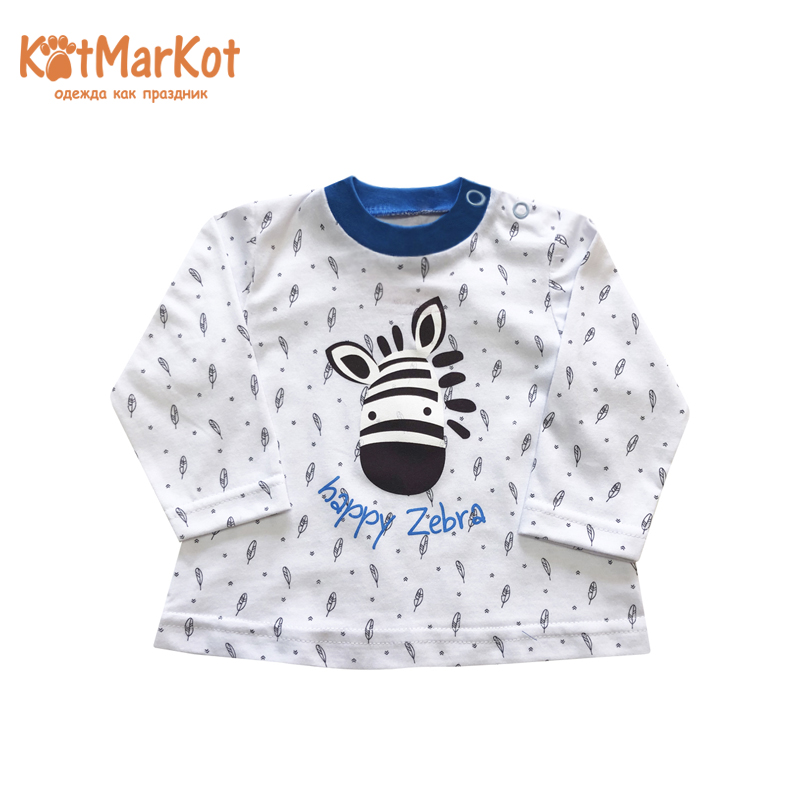 Blouses & Shirts Kotmarkot 7794а pullover jumper for boys and girls jackets  Cotton Boys Casual royal blue loose pullover raglan shoulder side split jumper