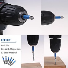 Supower Magnetic Anti Slip ph2 Screw Drill Bit 25mm,50mm,65mm,70mm,90mm,127mm,150mm (7PCS)