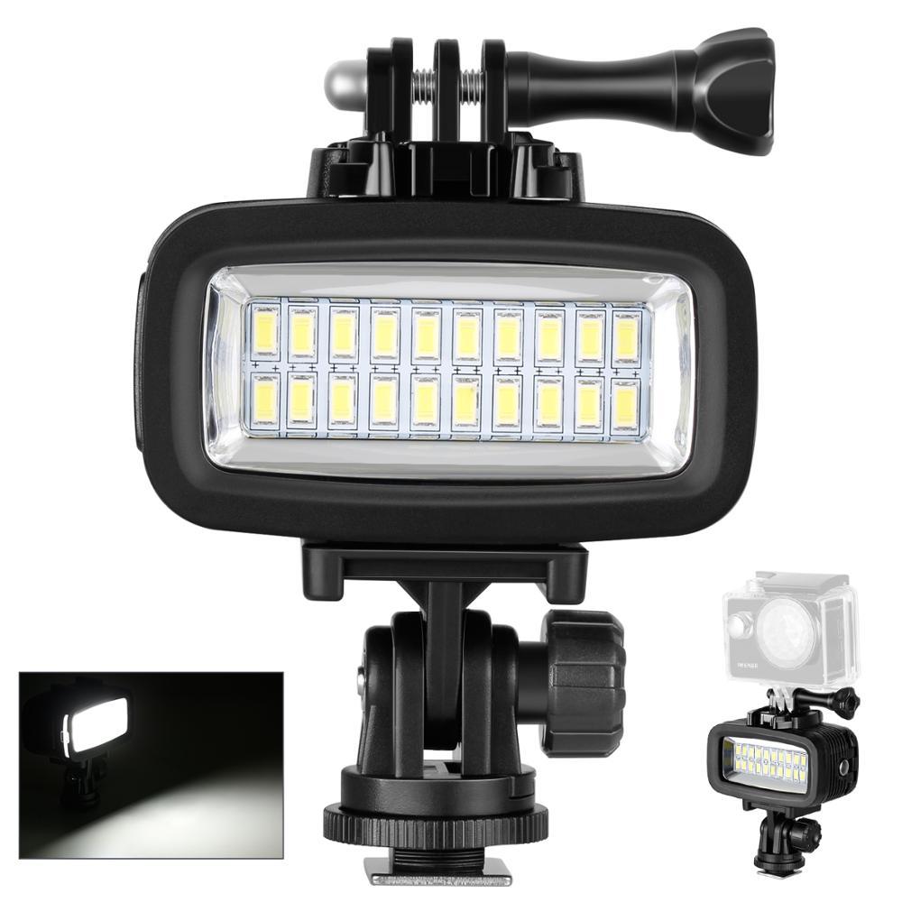 Neewer Video LED-20 20 adet sualtı 40m dalış lambası su geçirmez Video LED ışık için DV kamera Gopro Hero4 3 ve diğer eylem kamera