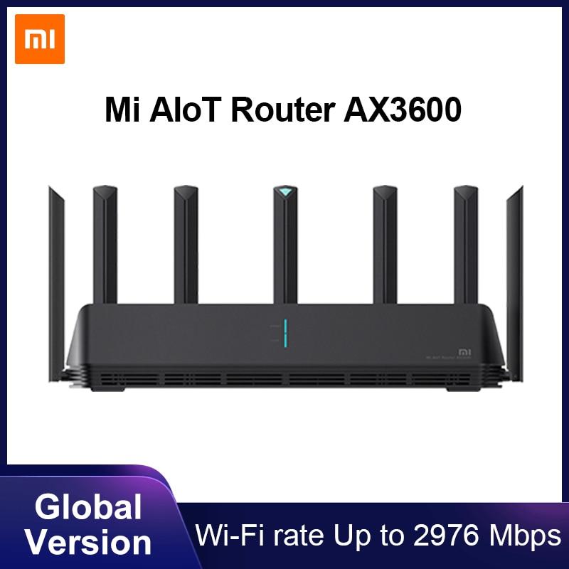 Глобальная версия Xiaomi Mi AIoT Router AX3600 6-ядерный чип двухчастотный WiFi 3-гигабитный беспроводной Rate WPA3 сетевое шифрование