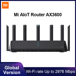 Global Version Xiaomi Mi AIoT Router AX3600 Six-Core Chip Dual-Frequency WiFi 3-Gigabit Wireless Rate WPA3 Network Encryption