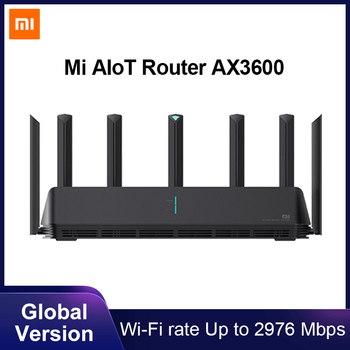 Global Version Xiaomi Mi AIoT Router AX3600 Six-Core Chip Dual-Frequency WiFi 3-Gigabit Wireless Rate WPA3 Network Encryption Electronics WIFI Routers