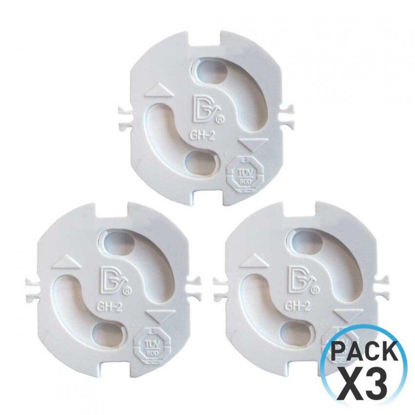 Pack Of 3 Plug Protectors Rotating White 7hSevenOn Elec