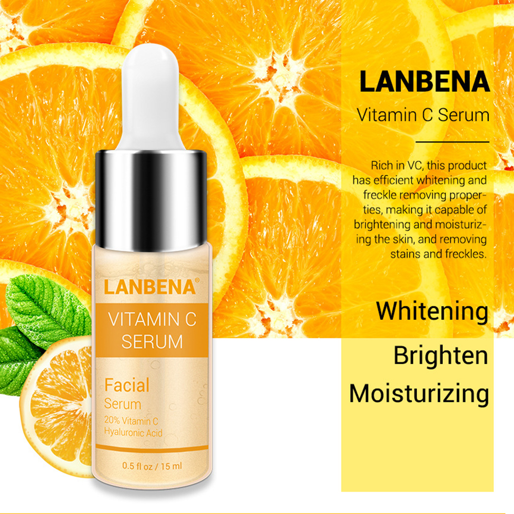 LANBENA Vitamin C Whitening Facial Toner Hyaluronic Acid Face Toner Remover Freckle Speckle Fade Dark Spots Anti-Aging Skin Care
