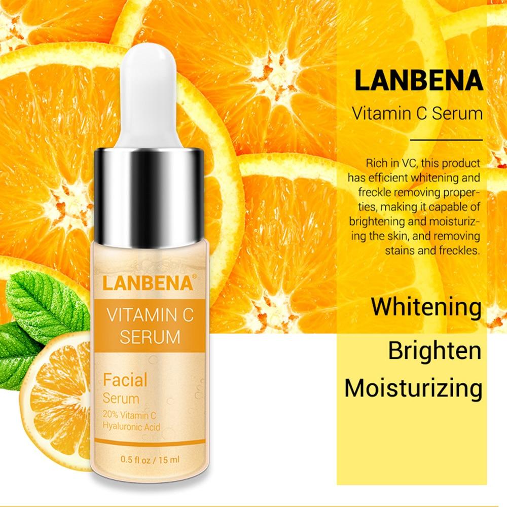 LANBENA Vitamin C Whitening Facial Toner Hyaluronic Acid Face Toner Remover Freckle Speckle Fade Dark Spots Anti-Aging Skin Care