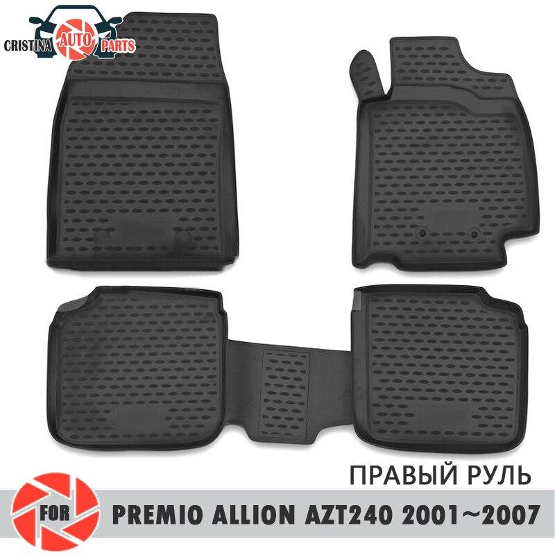 Alfombrillas de suelo para Toyota Premio Allion AZT240 2001 ~ 2007 alfombras antideslizantes poliuretano protección de suciedad interior accesorios de estilo de coche