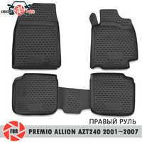 Tappetini per Toyota Premio Allion AZT240 2001 ~ 2007 tappeti antiscivolo poliuretano sporco di protezione interni car styling accessori