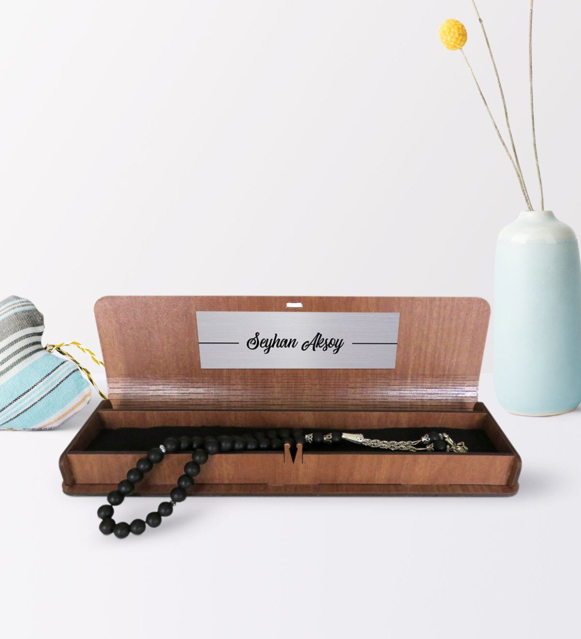 Father's Day Custom Leather Coated Wood Boxed Rosary|Gift Bags & Wrapping Supplies| |  - title=