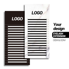 200 Cases Private label personal logo name eyelash extension ODM OEM random size customize lash extension with custom brand name