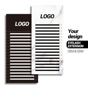 Image 1 - 200 Cases Private label personal logo name eyelash extension ODM OEM random size customize lash extension with custom brand name