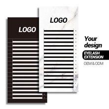 Extension de cils ODM, marque privée, nom personnel, taille aléatoire, avec nom de marque personnalisable, 200 boîtes