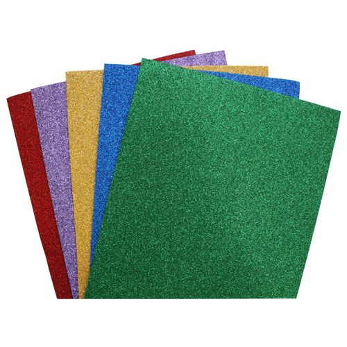 Eva-1012 Foamiran With Glitter, Assorted, 20*30 Cm, 2mm, Pack./5 Pcs, 'Astra' (1)