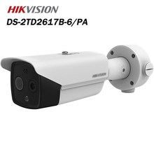 Hikvision тело температура скрининг термография пуля камера DS-2TD2617B-6% 2FPA поддержка аудио сигнализация