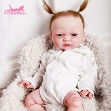 Mais novo 45cm completa silicone reborn bebê bonecas para crianças brinquedos da criança de corpo inteiro silicone menina reborn boneca com roupas verão