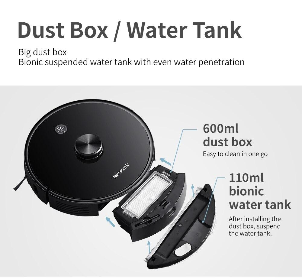 2700pa robô poeira bin collecto com lavagem