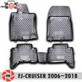 Коврики для Toyota FJ- Cruiser 2006 ~ 2018  противоскользящие полиуретановые коврики для защиты от грязи  аксессуары для стайлинга интерьера автомобиля