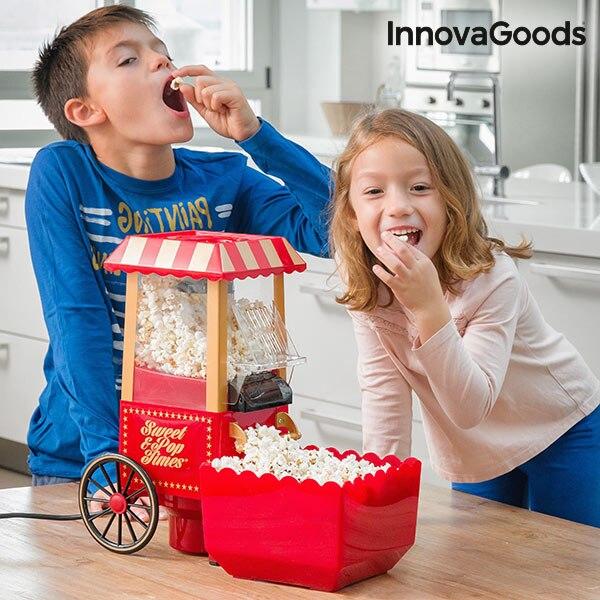 InnovaGoods Popcorn Maker Sweet & Pop Times 1200W Red Porpcorn Machine Porpcorn Pop Corn