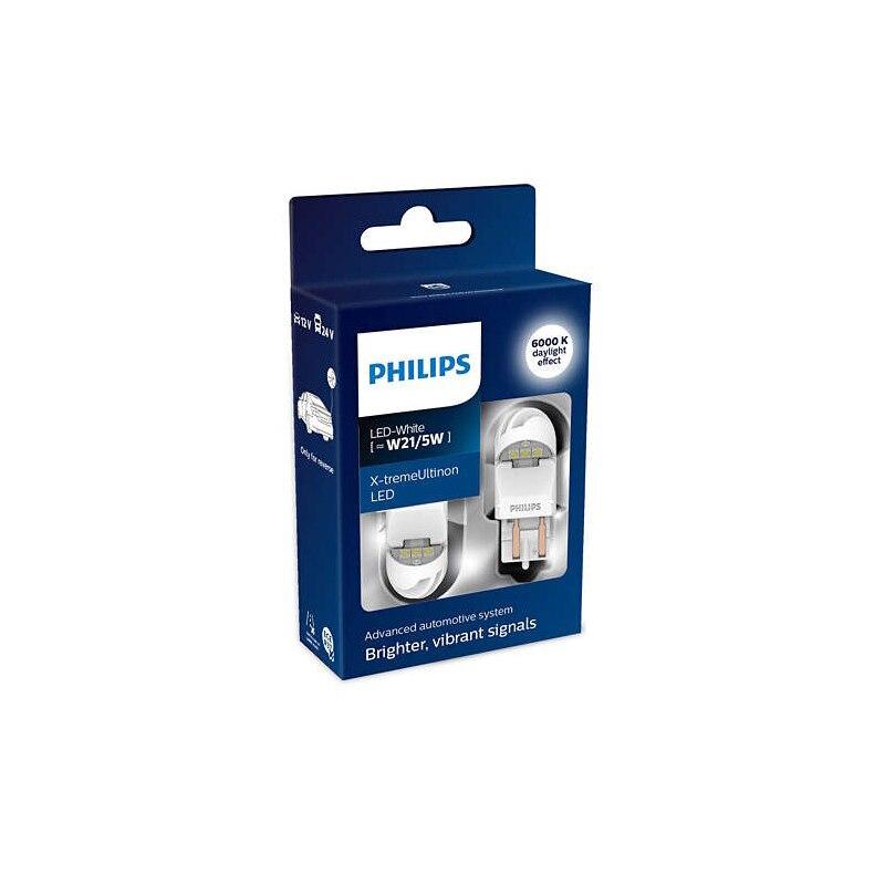 PHILIPS 11066XUWX2 W21/5 W 12V-LED (W3x16q) 6000K 1,8/0,3W blanco X-tremeUltinon LED Gen2 (K paquete 2 piezas) 62853