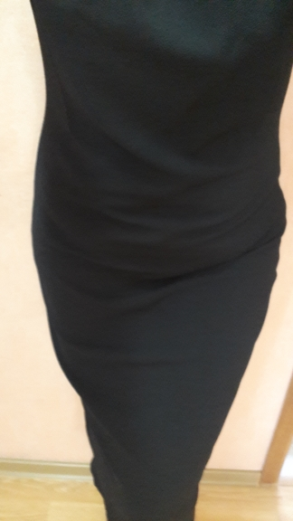 Classy Black Plus Size Mock Neck Solid Pencil Slim Dress Women Spring Office Lady Bodycon Basics Plus Size Long Dresses photo review
