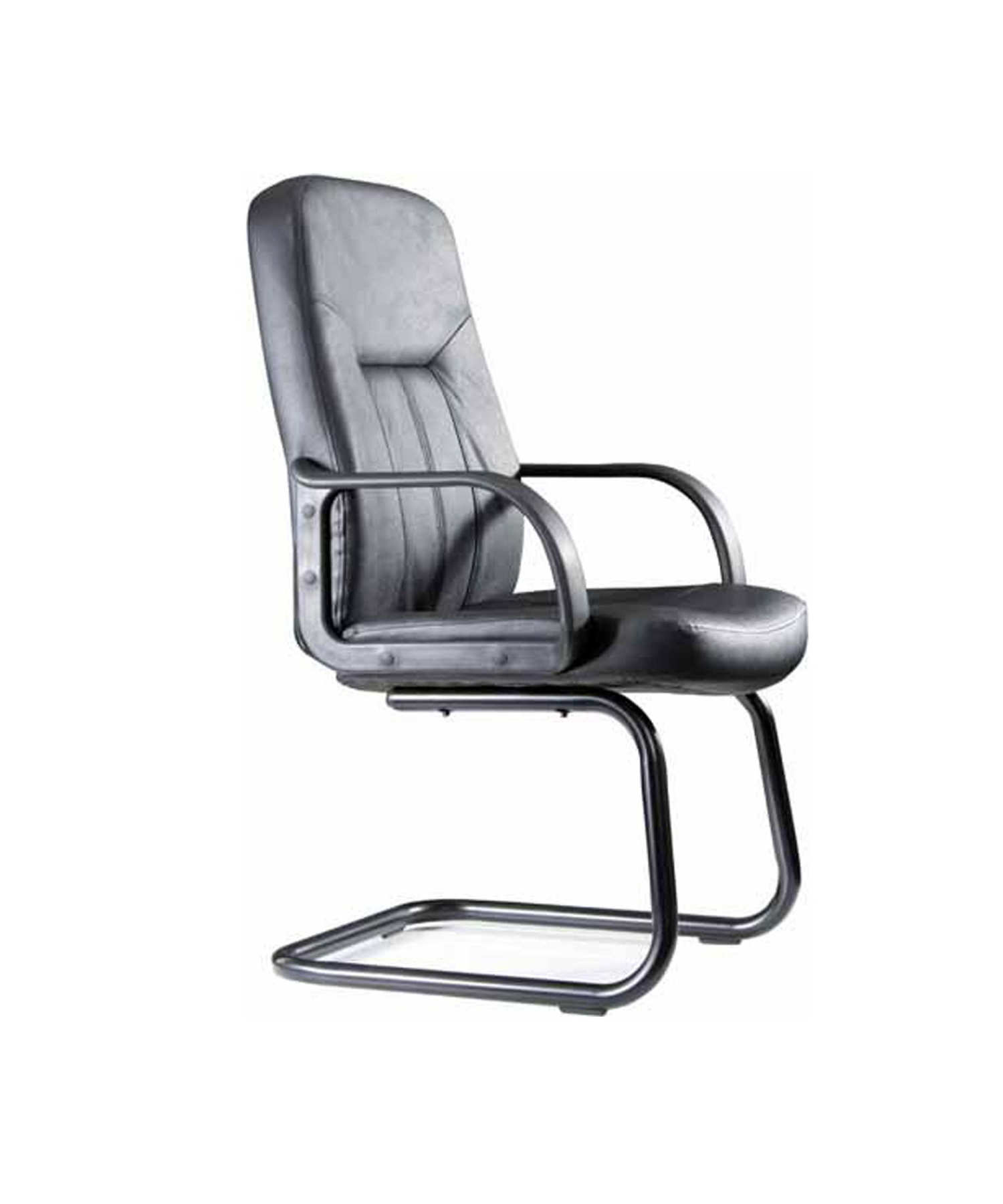 Armchair Confidante Skate With Arms Fixed-up Seat And Backstop Upholstered In Similpiel Color Black TAPHOLE AND CURLED Mod