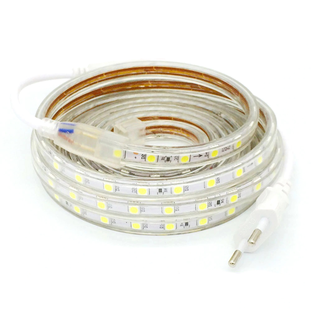 LED Strip 220V AC With Led SMD5050 With 60 LED/m Custom Made Price X Poke White Cold 6500k