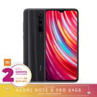 -Garantie Offizielle Spanisch-Xiaomi Redmi Hinweis 8 Pro 6 harte GB 64 harte GB Smartphone 64MP Quad noch kameras MTK Helium G90T octa Core 4500 mAh