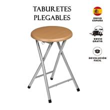 Spanish chair Pack of finished folding stools, aluminium, Brown, 30x30x45 cm, 2 PCs