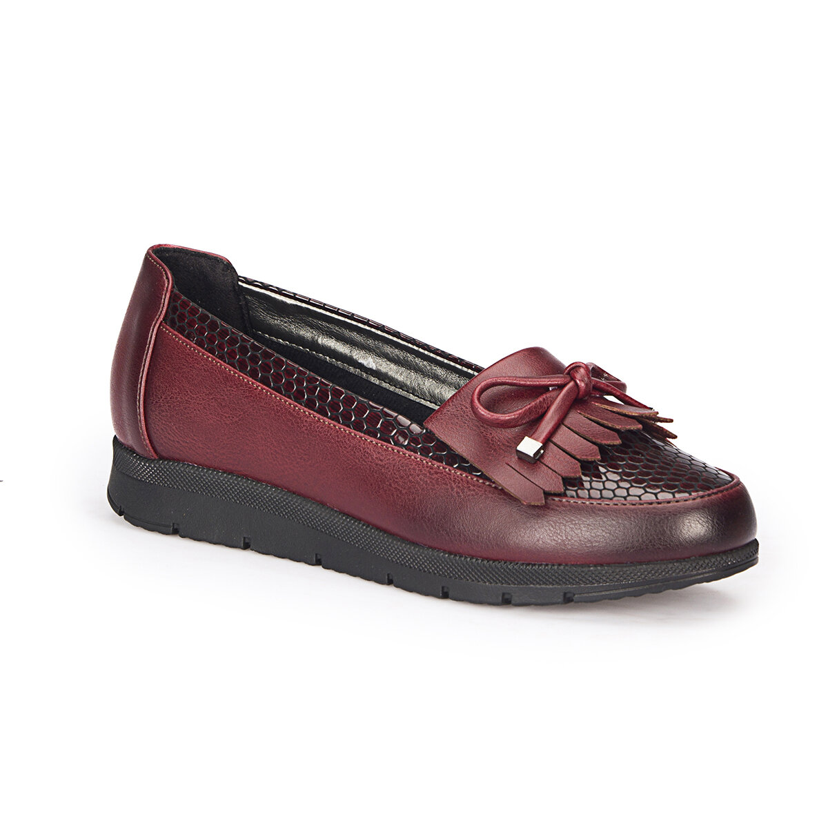 FLO 72. 158010.Z Burgundy Women Loafer Shoes Polaris
