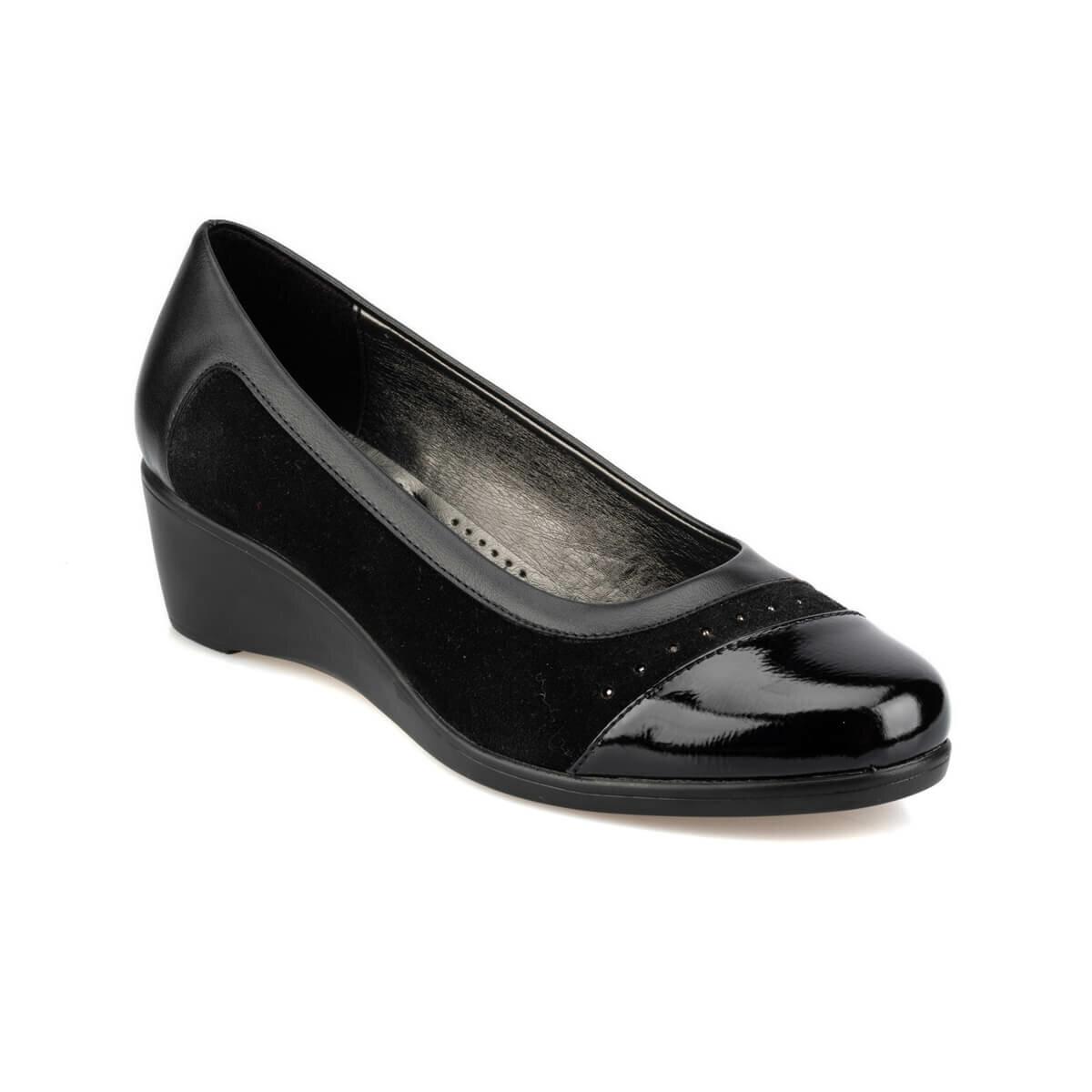 FLO 92.151036.Z Black Women 'S Wedges Shoes Polaris