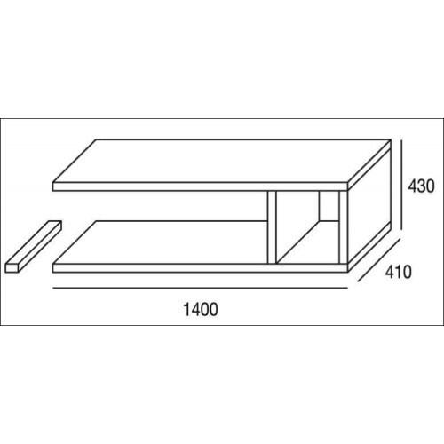 Mueble de salón completo, color cambrian y blanco, muebles de TV, apilables ref-181 3