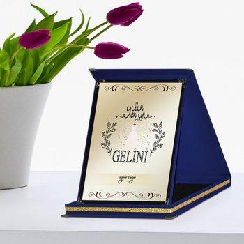 Placa de premio personalizada, la mejor novia del año, azul marino