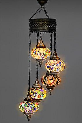 Turco Handmade mosaico multicolorido lustre novo e exclusivo