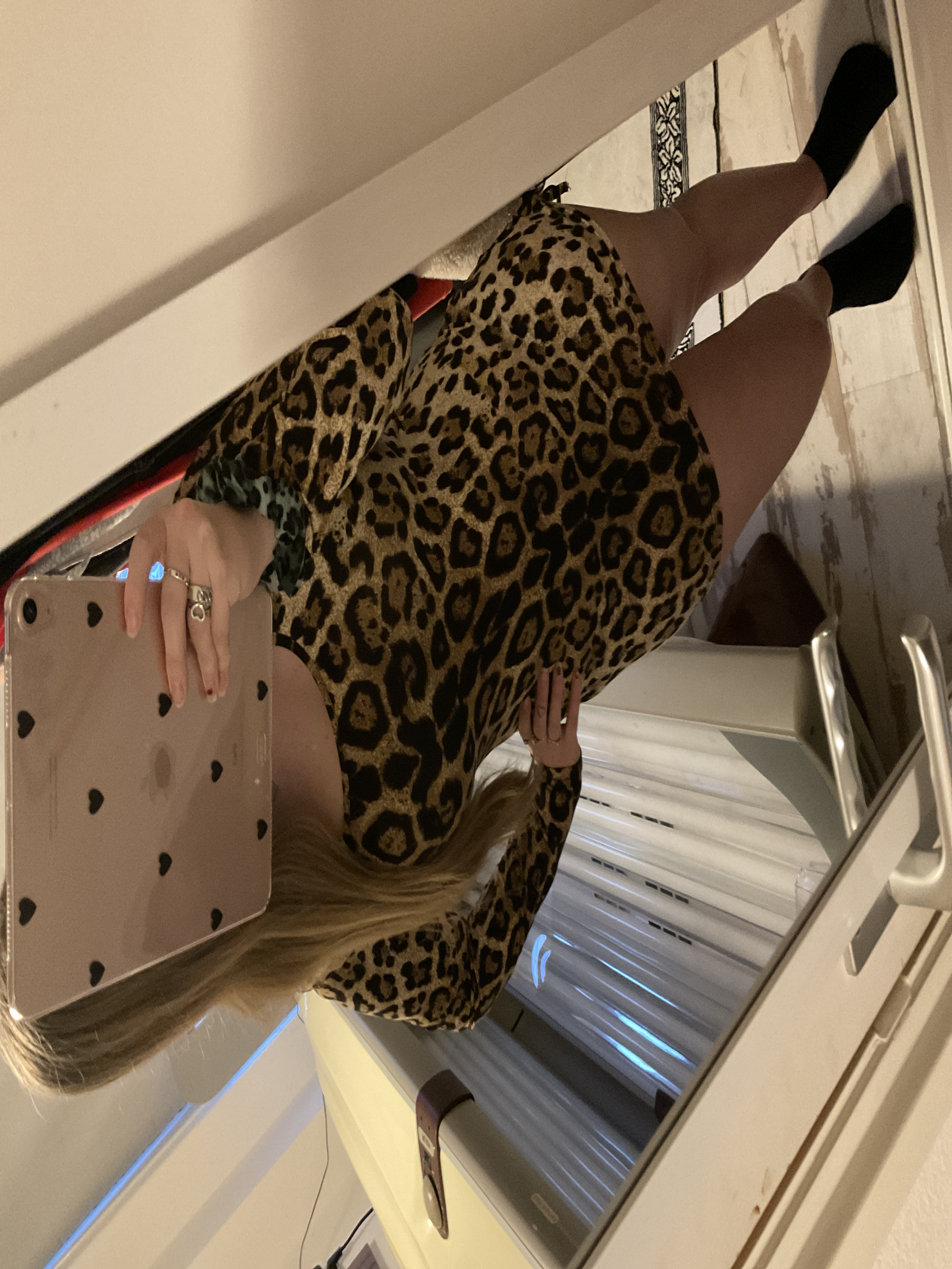 Meihuida Women Sexy Leopard Mini Dress Long Sleeve O-Neck Backless Skinny Stretch Short Dresses Night Club Sex Wear reviews №1 505089
