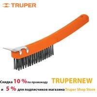 Brush metal Truper 11539, with bristles of carbon steel, Gauge щетины 0, 35mm Scraper to remove paint