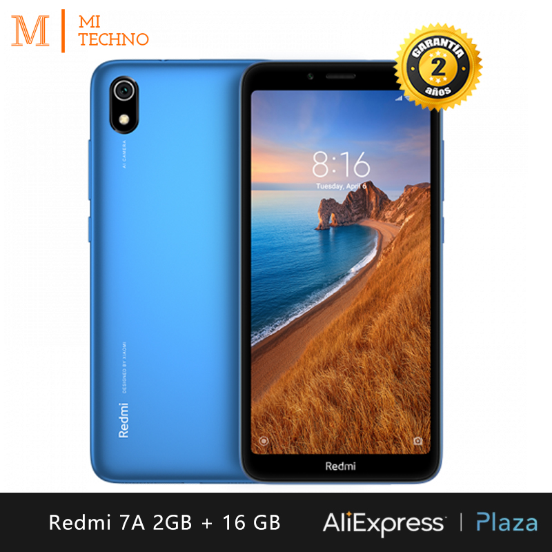 Xiaomi Redmi 7A Smartphone (2 hard GB RAM, 16 hard GB ROM, phone mobile, free, new, cheap, Dual SIM, 4000mAh battery, Android) [Global Version] image