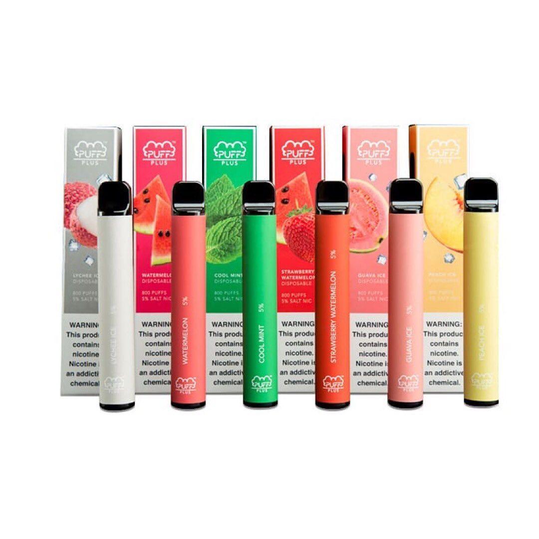 Puff Bar Plus до 800 Pufs (3,2мл) Набор 10 штук Лот/Аксессуары/Нагревательный Элемент/Микс фуксов