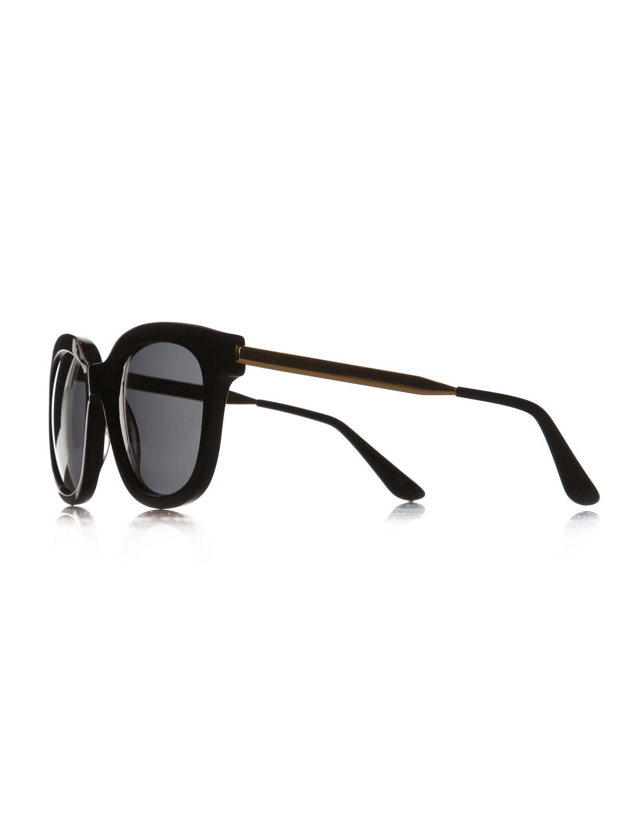 Women's sunglasses rh 15773 04 bone black organic rectangle rectangular 54-21-150 rachel