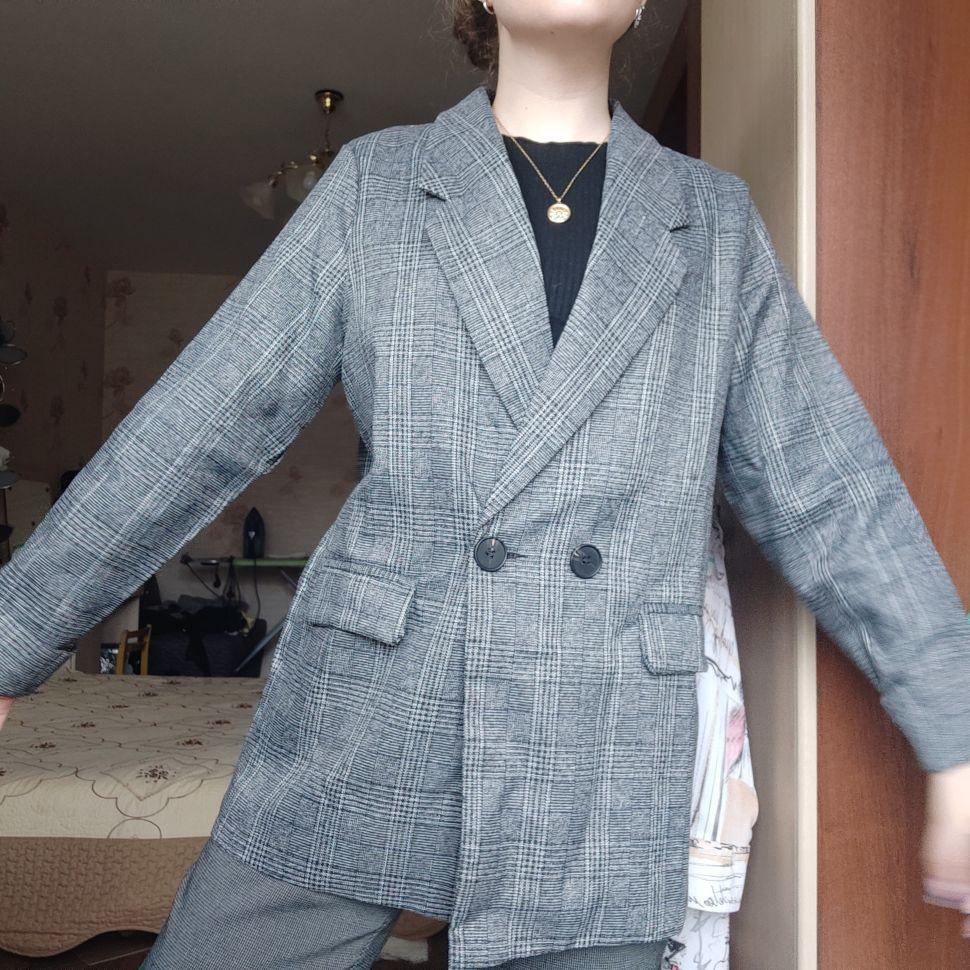 CBAFU autumn spring jacket women suit coats plaid outwear casual turn down collar office wear work runway jackets blazer N785 reviews №1 88698