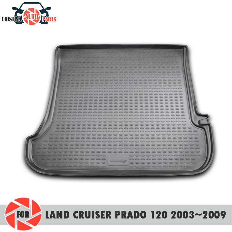 Trunk mat for Toyota Land Cruiser Prado 120 2003-2009 trunk floor rugs non slip polyurethane dirt protection trunk car styling