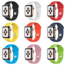 correa apple watch silicona de alta densidad 38 40 42 44 mm Apple Watch series 3 5 5 6 SE correa apple watch 40mm serie 5