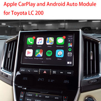 Mobile Phone MirrorLink Carplay Retrofit Android Auto for Toyota Land Cruiser LC200 Spport Bluetooth Wifi Rear Camera Input