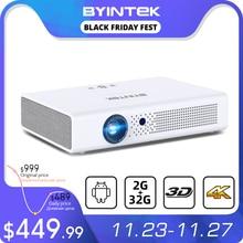 BYINTEK R19 300 inç Full HD 1080P 3D 4K akıllı Wifi Android ev oyunu LED DLP lazer taşınabilir mini projektör akıllı telefon Tablet için