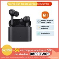 Xiaomi Auriculares Inalámbricos Cancelación de Ruido True 2 Pro Control táctil, Bluetooth 5.0, Carga inalámbrica, Micrófono de 12 mm con Triple micrófono