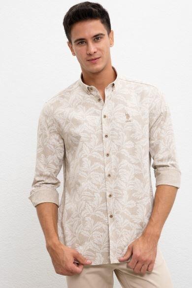 U.S. POLO ASSN. Beige Regular Shirt
