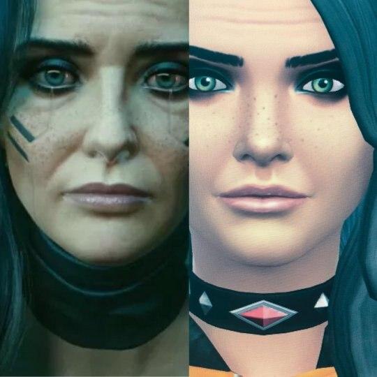 玩家在《模拟人生4》里捏出《2077》女角 样貌神还原插图(3)